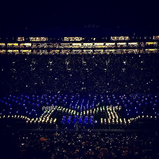 All of the lights. #GoBlue