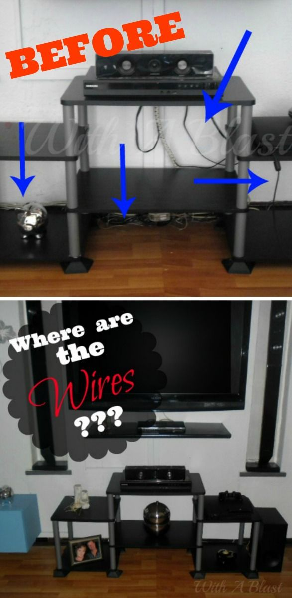 Hiding Wires ~ Perfect For Areas With Brick Walls Or Rented Space ~ Simple,  But Effective To Hide All The Electrical Wires/cords