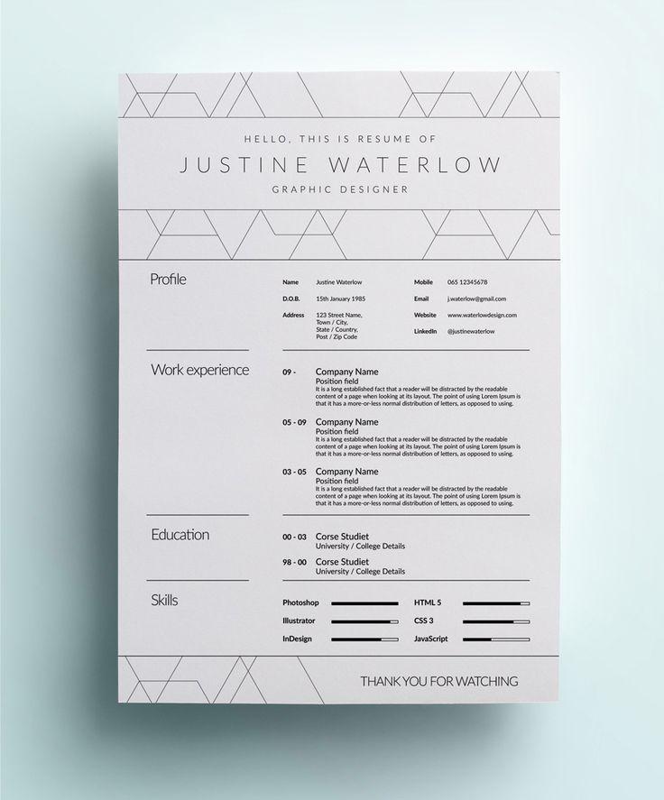 17 Best images about Design Self Promotion on Pinterest - junior graphic designer resume