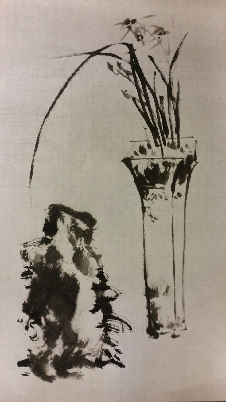 Korean Brush Painting - (12) Orchid (소현의 난초 그리기)