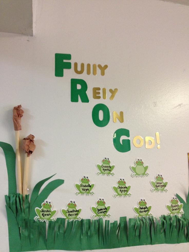Frog Theme Religious  Bulliten Board