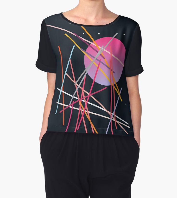 Geometric Space | Women's Chiffon Top