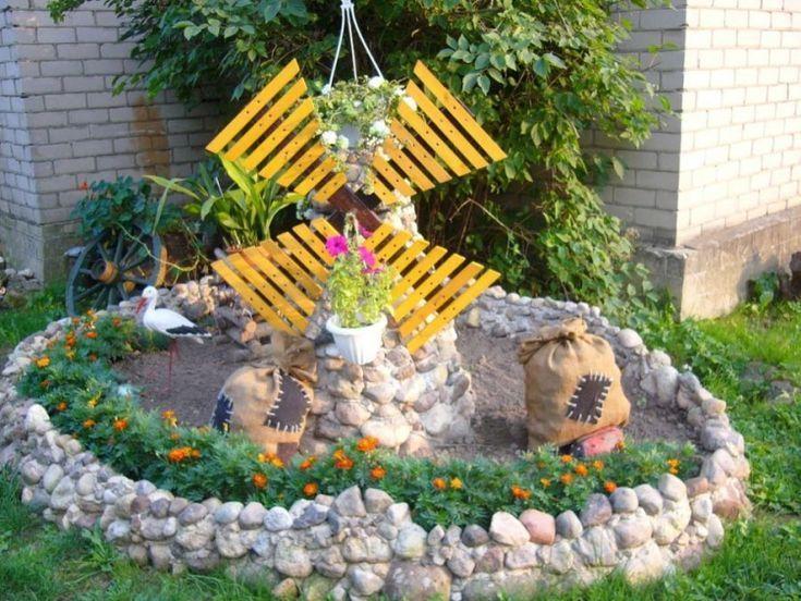 Décoration jardin en objets de récupération en …