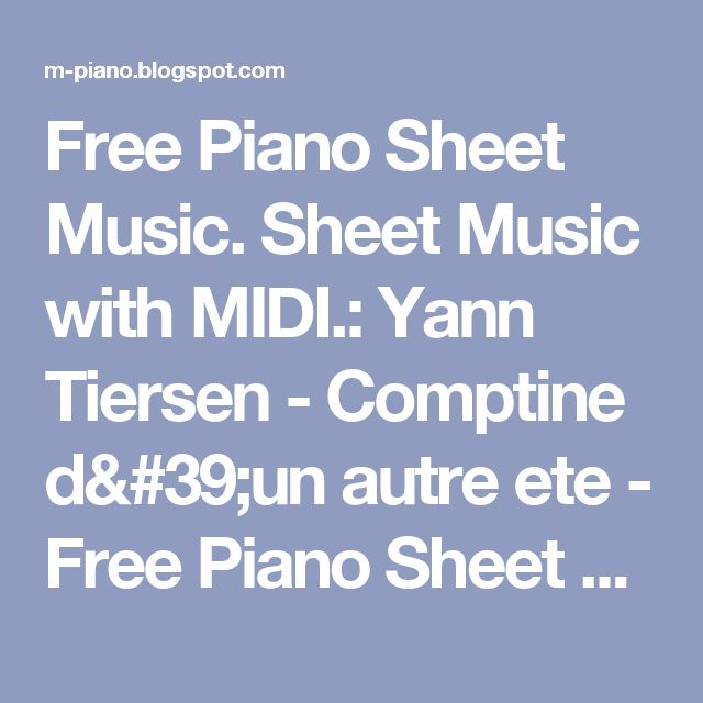 1000 Ideas About Piano Sheet Music On Pinterest