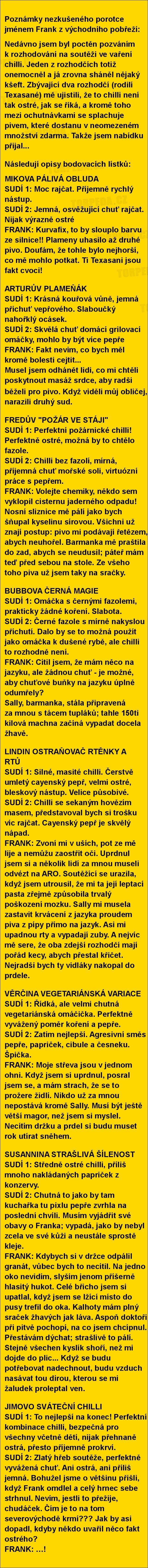 Poznámky nezkušeného porotce jménem Frank z východního pobřeží... | torpeda.cz - vtipné obrázky, vtipy a videa