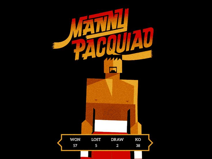 Manny 'Pac-Man' Pacquiao by R A D I O