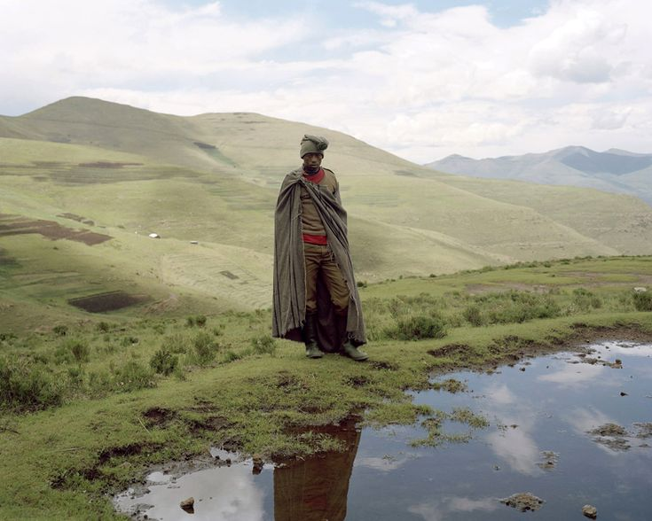 Lesotho - For the men, the blanket is usually worn as a cape, while women tend to wrap it around their body and fasten it at the shoulders or around their waists. - The OTHER_Home of Subcultures & Style Documentarry_ Kobo_Lesotho_Africa-Photography Joel tettamanti_41