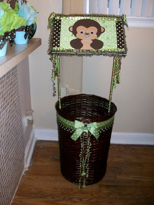 baby shower monkey theme baby shower wishing well made out of a