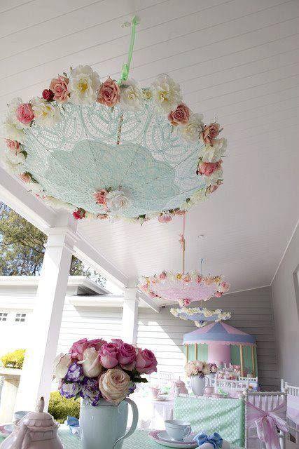 Pretty umbrellas for the bridal shower