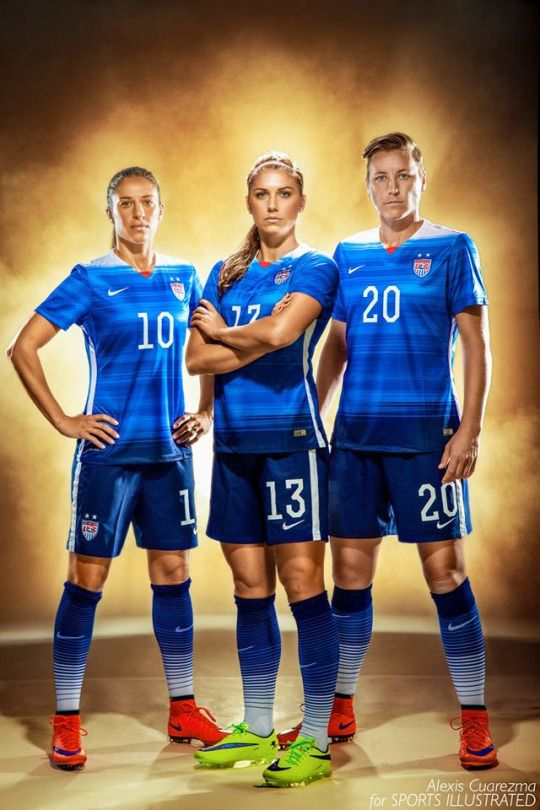 Going of the GOLD! Game day today. My portrait of Carli Lloyd, Alex Morgan and Abby Wambach for Sports Illustrated.