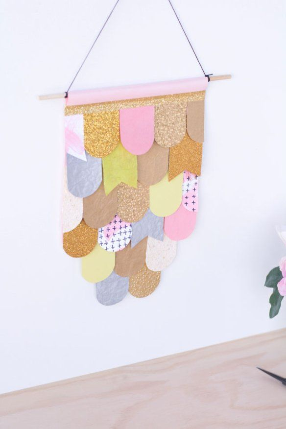 Easy DIY Wall Art with construction paper