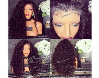 100 % echte menschliche Haare lockig Spitzefrontseite von BABESWIG