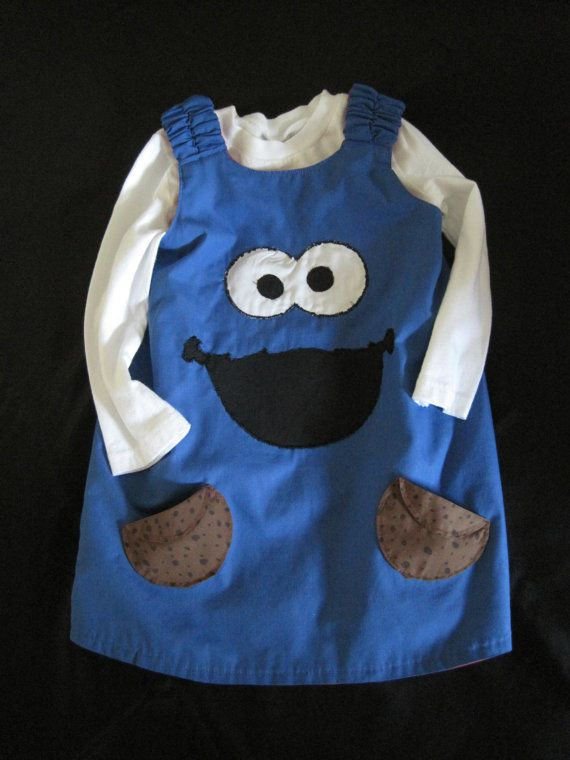 Handmade Sesame Street Toddler Dress  Tunic by JabbyCreations