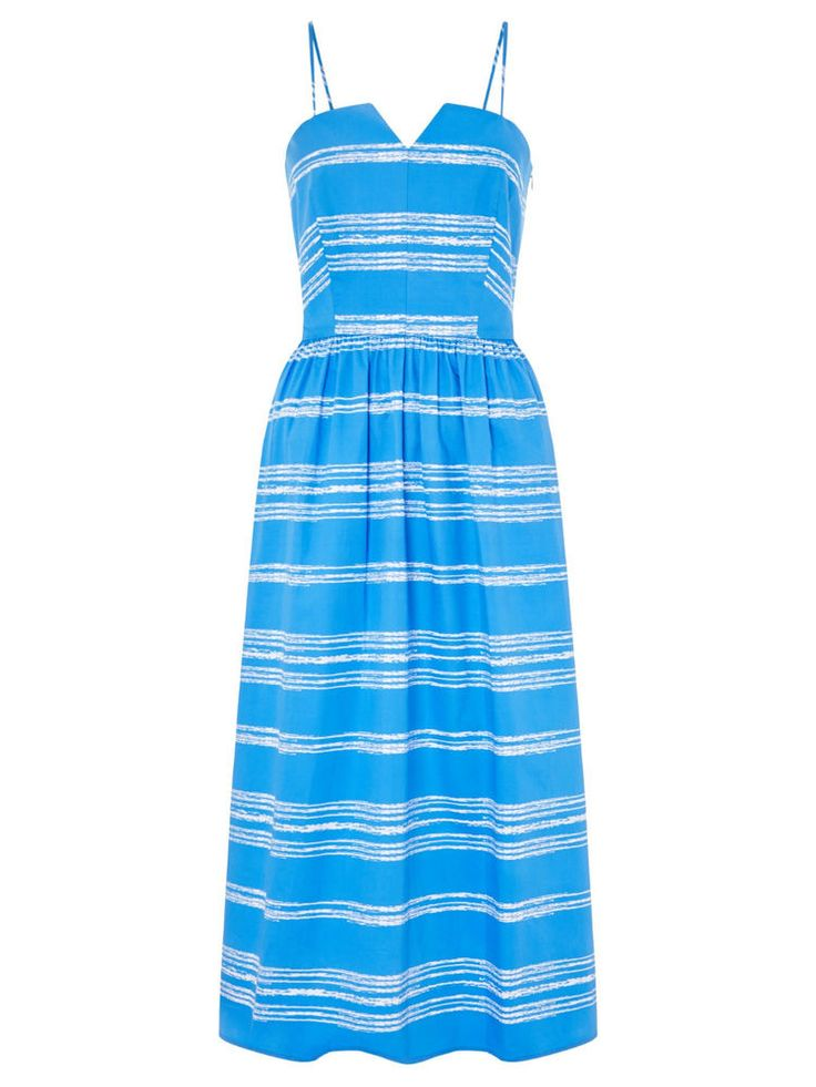 John Lewis Sylvia Blue Striped Dress NEW Was £150 size 10,12,14 #JohnLewis #Sundress #Cocktail