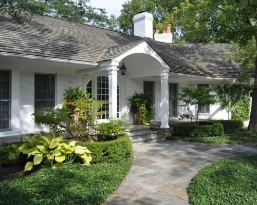 .: Ranch Home, Ranch House, Stones Walkways, Front Doors, Traditional Exterior, Curb Appeal, Front Entry, Front Porches, Ranch Style Home