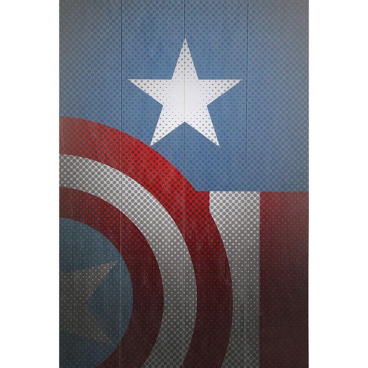 """Decorazione in legno """"Torso"""" di #CaptainAmerica. Dimensioni: 40 x 59 x 1,2 cm."""