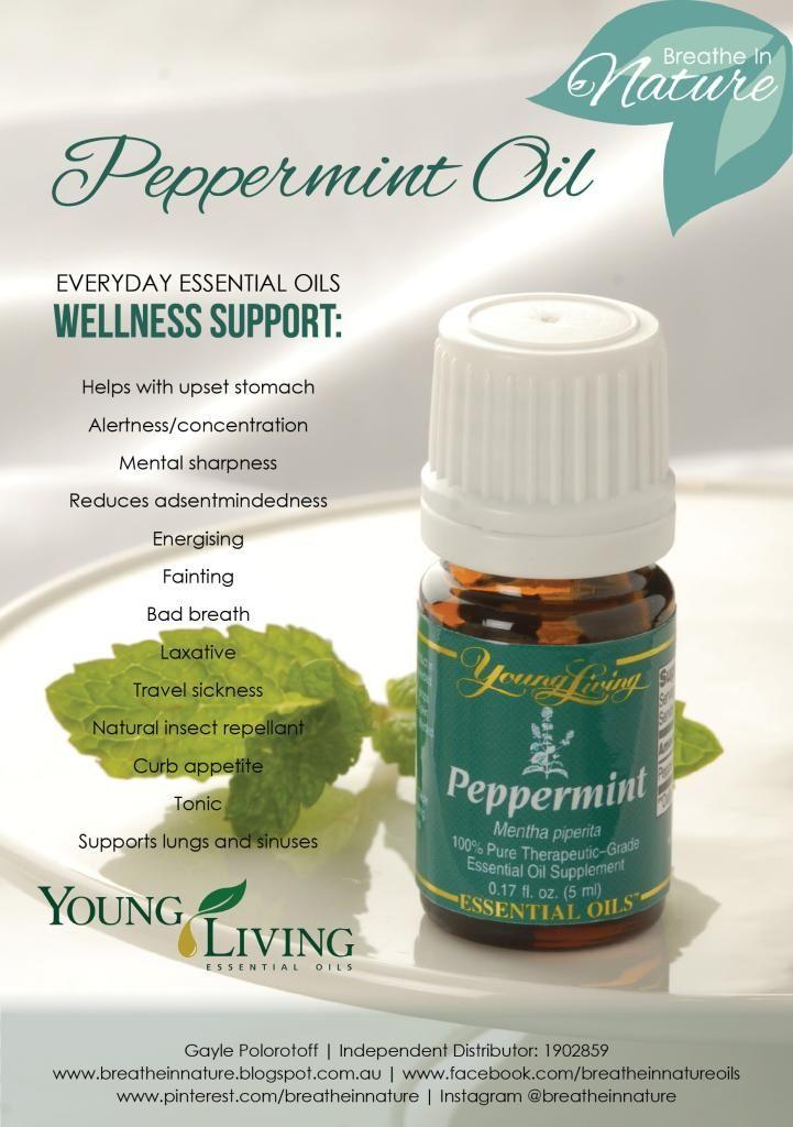 Young Living Essential Oils : Peppermint Oil. Follow my facebook at www.facebook.com/breatheinnatureoils  #breatheinnature
