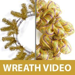 Lots of wreath ideas and tutorials