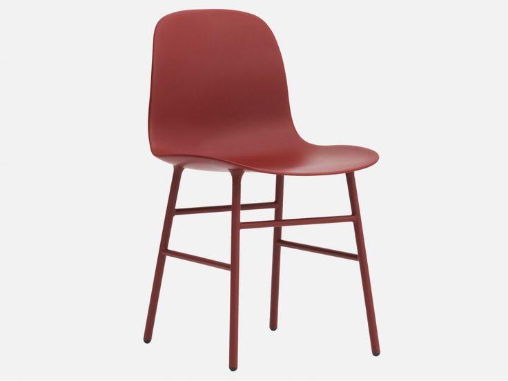 Krzesło Form Stalowe czerwone — Krzesła Normann Copenhagen — sfmeble.pl