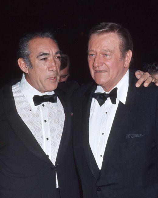 John Wayne and Anthony Quinn