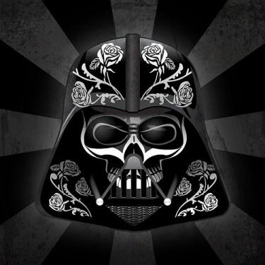 Man, this is cool!  Dia de Muertos Darth Vader
