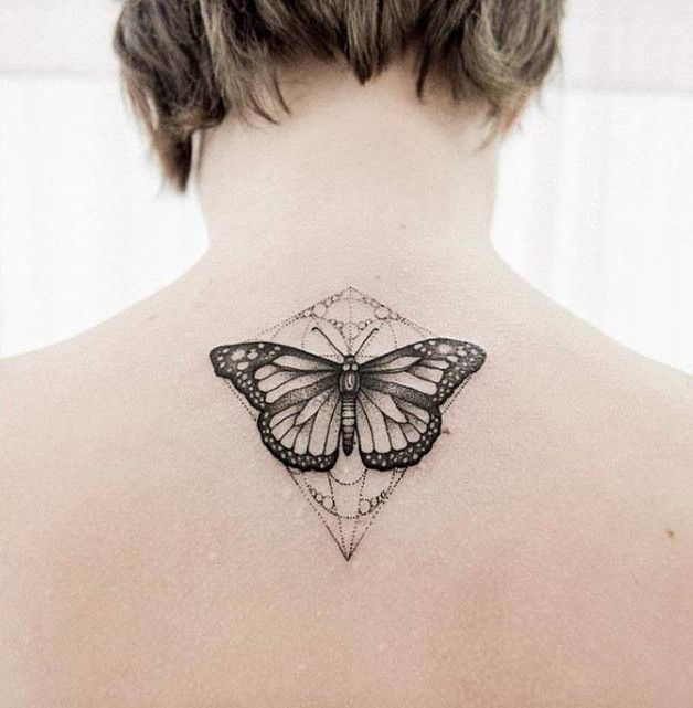 Ornate Butterfly Tattoo Design by Uls Metzger