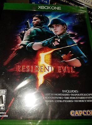 Resident Evil 5 XBOX ONE Horror Survival Capcom XBL Zombie XBOX One X FREE SHIP