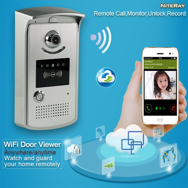 104.55$  Watch now - http://ali86v.shopchina.info/1/go.php?t=32709454873 - Free shipping Digital door eye viewer video peephole door camera wifi wireless android peephole door viewer remote door phone 104.55$ #aliexpress