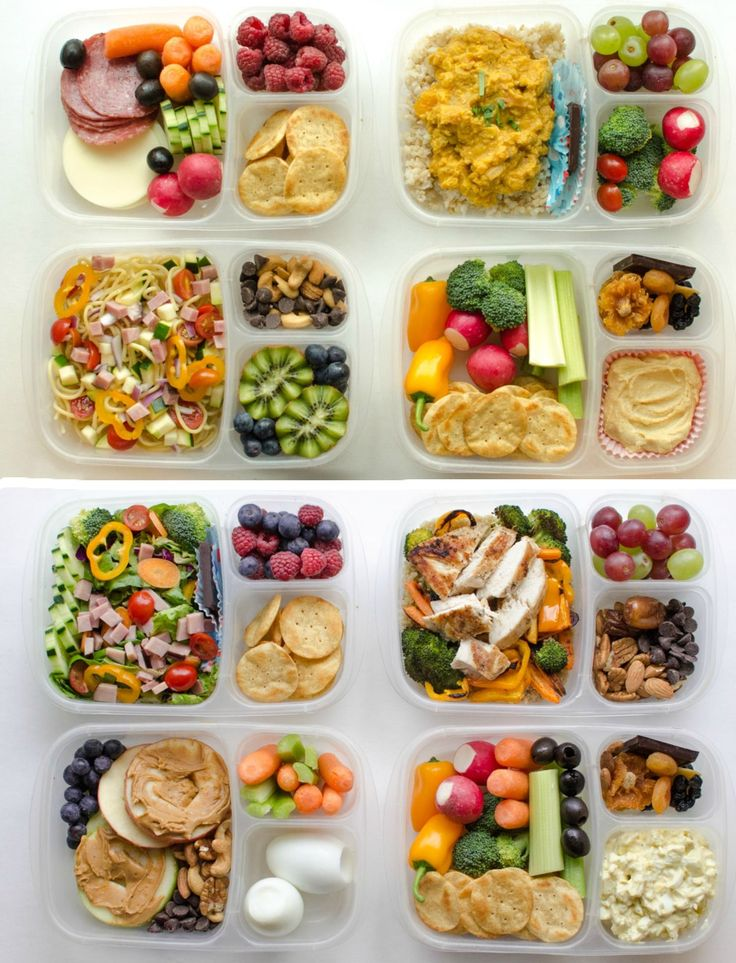 Dividing up your lunchbox automatically makes everything look delicious