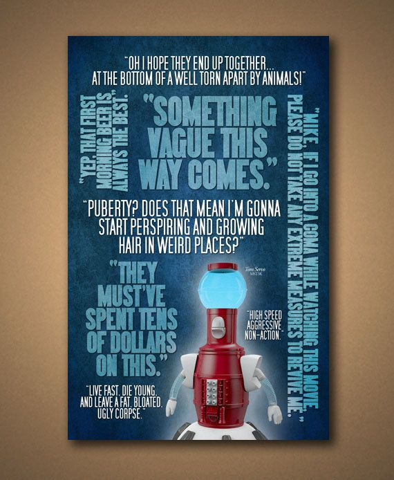 MST3K TOM SERVO Quotes Poster by ManCaveSportsSigns on Etsy