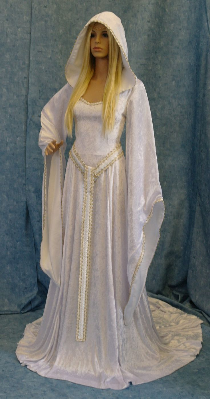 medieval renaissance ELVEN FAIRY dress custom made. $295.00, via Etsy.
