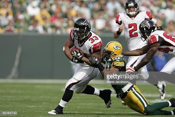 Atlanta Falcons Michael Turner In Action Rushing Vs Green Bay Packers Green Bay Wi 10 5 2008 Credit Steve Jacobson Photo Atlanta