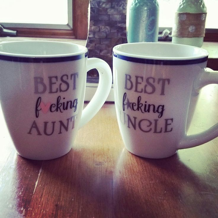 Mugs I made for my sister and brother in law!!!  Huge coffee drinkers!!!  I had fun making these!!!  Contact me for yours!!!