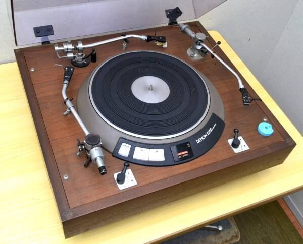 Denon DP3000 turntable with three tonearms