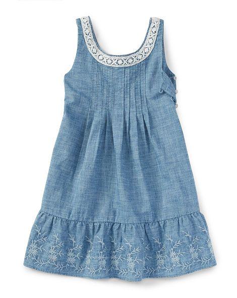 Chambray Woven Dress - Girls 2-6X Dresses & Skirts - RalphLauren.com