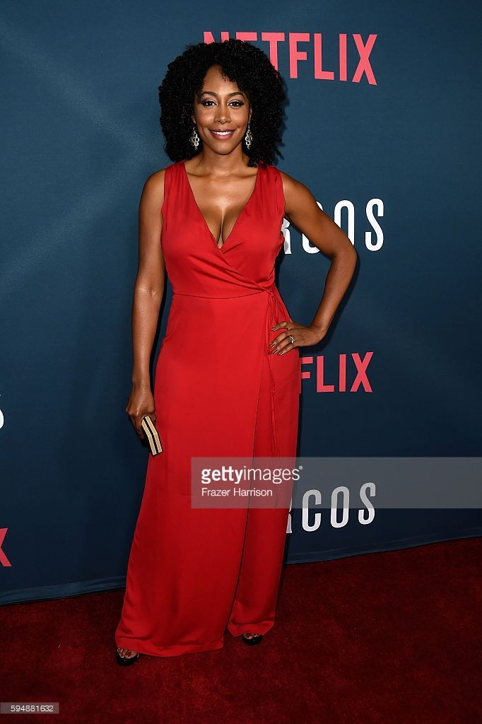 Actress Simone Missick attends the Season 2 premiere of Netflix's 'Narcos' at ArcLight Cinemas on August 24, 2016 in Hollywood, California.