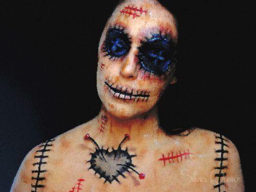 maquillaje de muñeca vudu