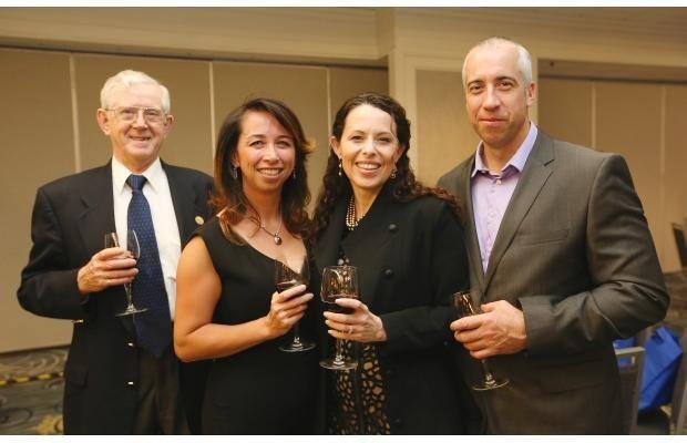 Dr. Hugh Wood, Jenny Basran, Mark Koch and Serese Selanders at the SYPE award gala at the Sheraton Cavalier. Bridges photo by Michelle Berg
