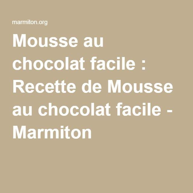 Gateau a la mousse au chocolat marmiton