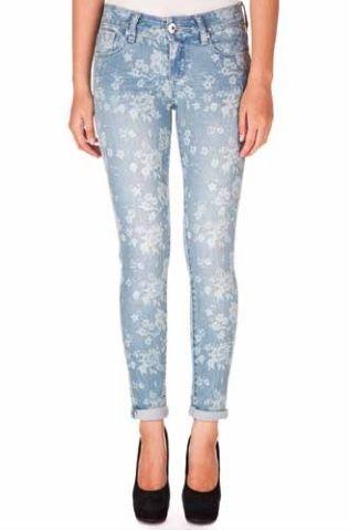 Floral Printed Skinny Jeans