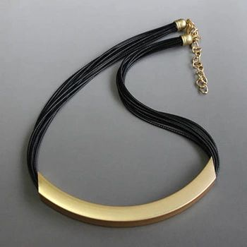 Free Shipping Vintage Alloy Circle Pendant Lots of Black Leather Chain Statement Necklaces Fashion Jewelry For Ladies JJ97