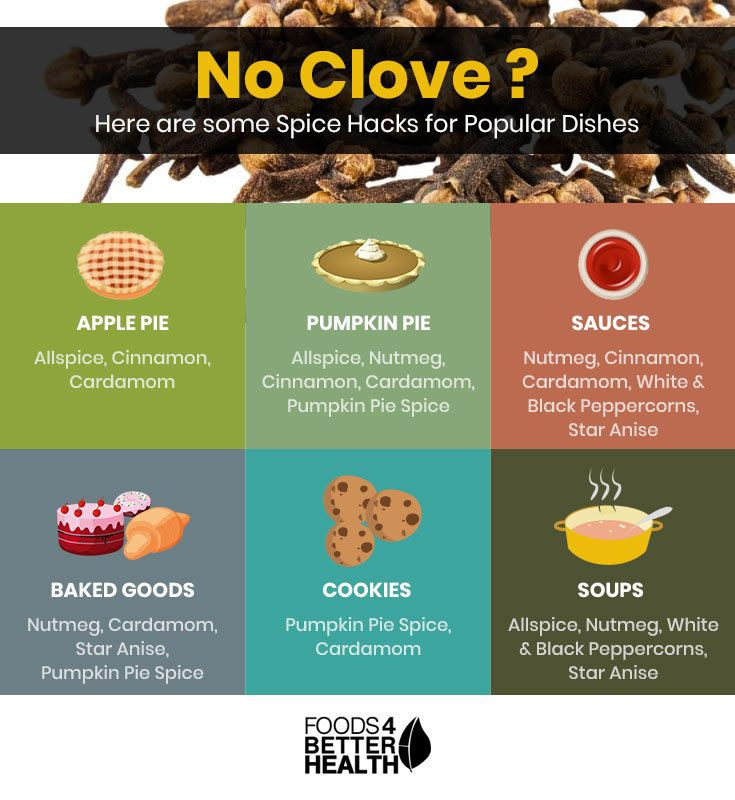 What Spices Are A Substitute For Cloves Spices Food Facts Clove