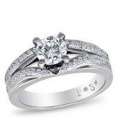 PassionStone Couture, 18K White Gold Diamond Semi-Mount, 5/8 ctw.