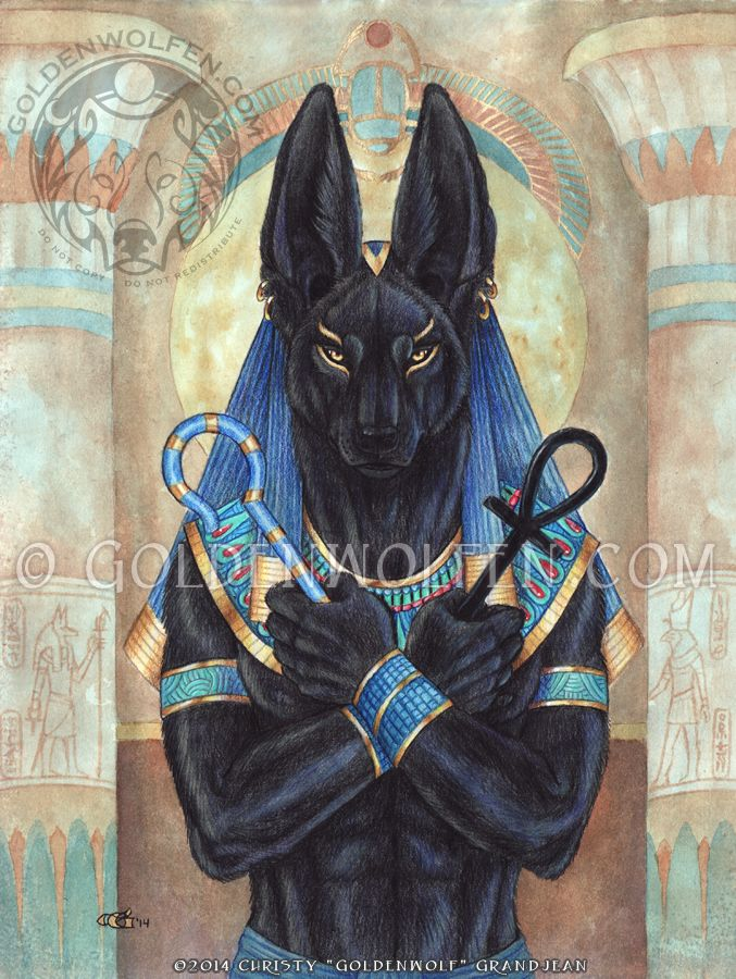 Anubis - Lord of the Underworld by Goldenwolf.deviantart.com on @deviantART