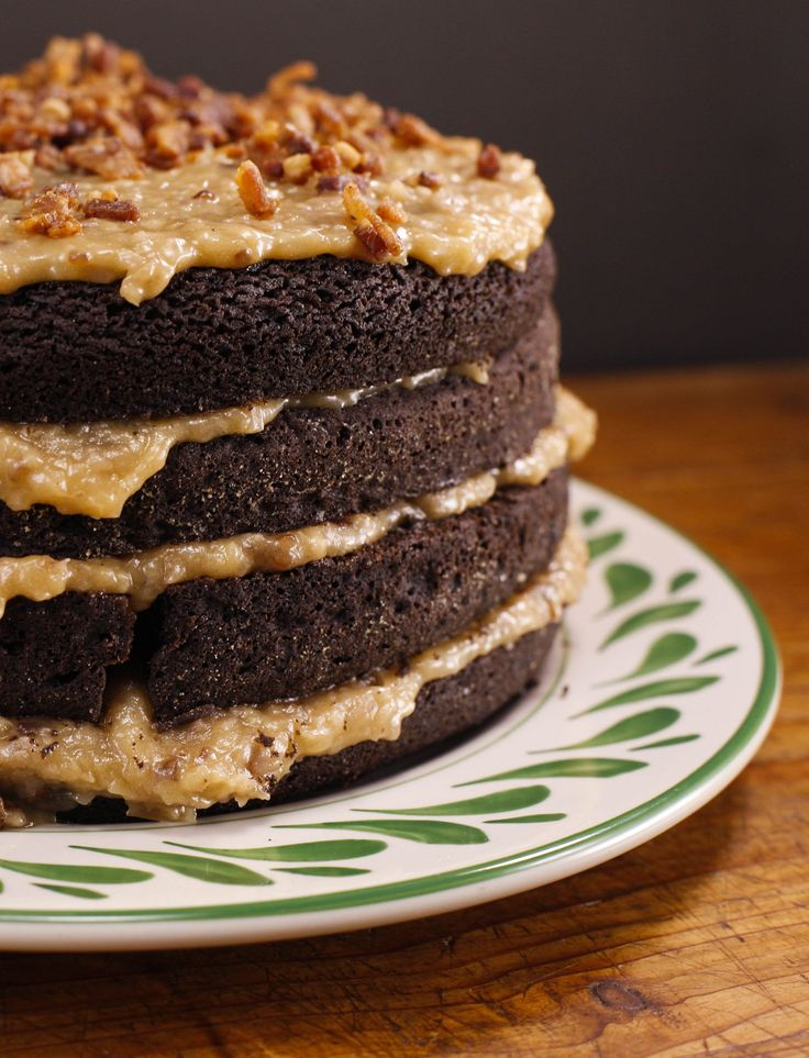 The Cake Boss, Buddy Valastro's German chocolate cake with coconut pecan frosting + bacon bits!
