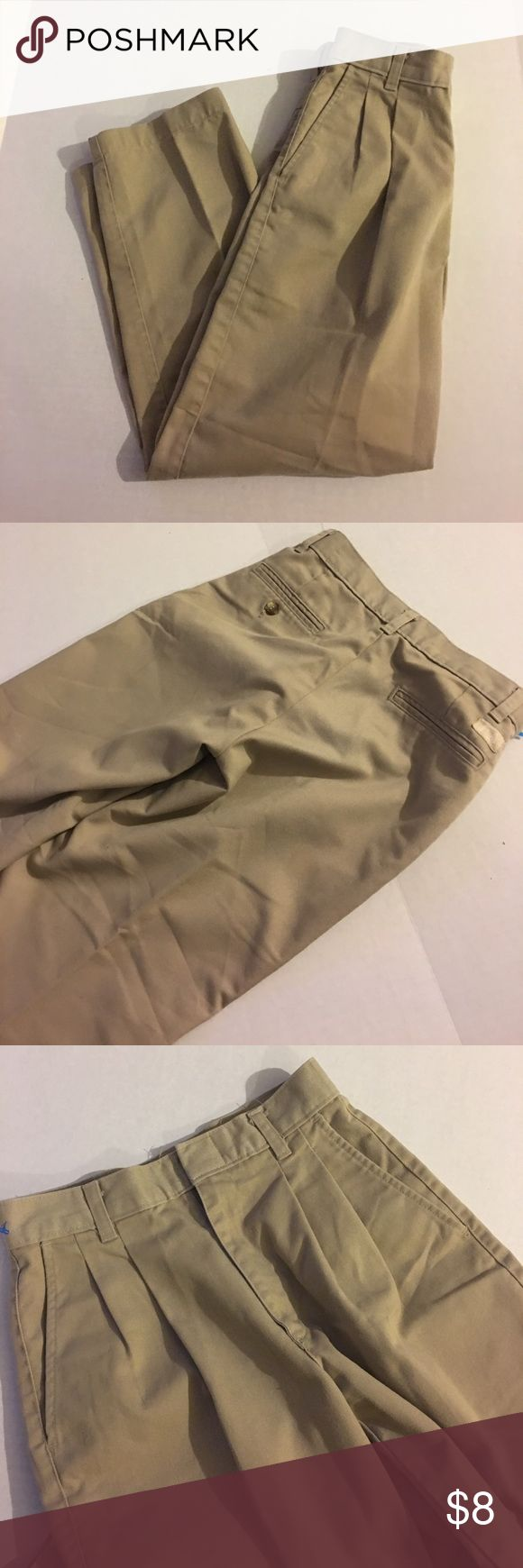 Boy's Khaki Tan School Uniform Pants Great condition. No marks or stains. 2+ items= 20% off; 4+items=30% off. Size 11. EA Bottoms Casual