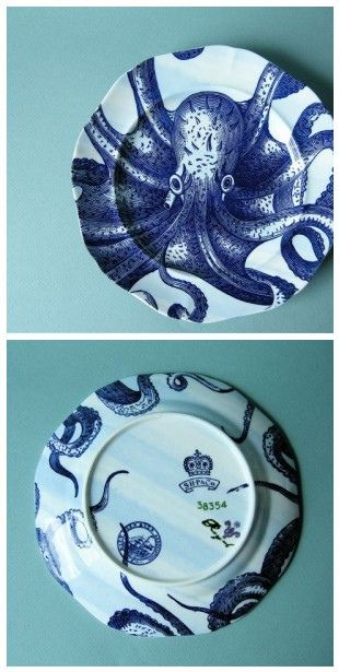 Anthropologie Octopus Salad Plate (2)