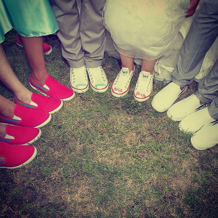 shoes #wedding #bride #groom #bridesmaid #bestmen #shoes
