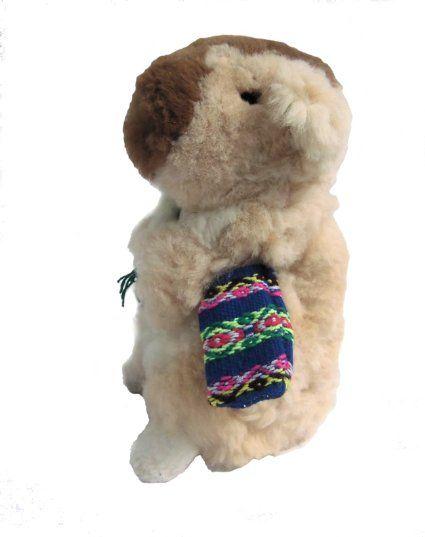 meerschweinchen kuscheltier echt alpakafell plueschtier 30 cm braun teddy b ren und andere. Black Bedroom Furniture Sets. Home Design Ideas