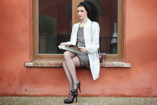 Rebirth: White coat and BE*WHY bag (my personal style-winter outfit)